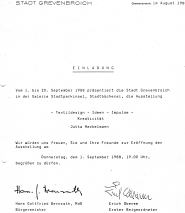 Einladung_1988_Grevenbroich_Galerie_Stadtparkinsel